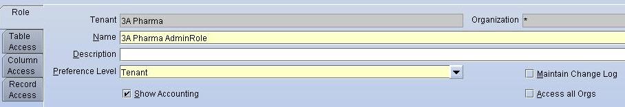 TenthPlanet_Compiere_Distribution_System_Admin_Define_Role_Access