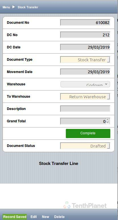 TenthPlanet_Compiere_Retail_Purchase_Management_Receive stock using HHT 3
