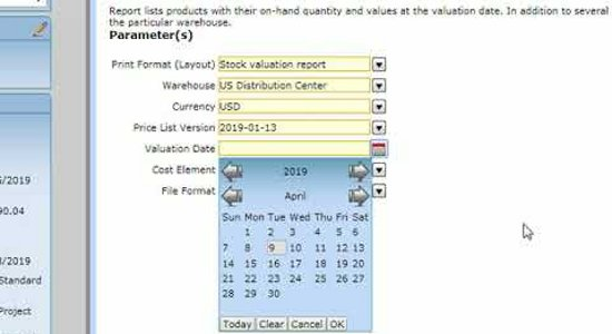 TenthPlanet_Resources_Compiere_Videos_Details of Inventory evaluation Report