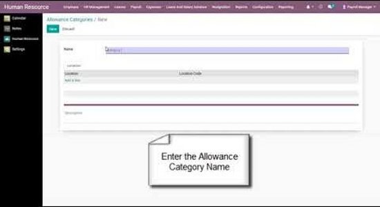 How to maintain categories in Travel allowance fare master in odooERP